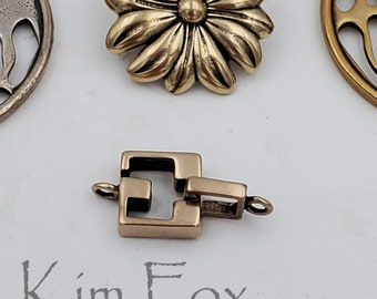 CRB149 RED BRONZE  Square Slot Clasp for necklace or bracelet