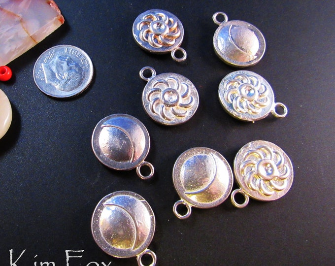 Sun and Moon Charms - perfect for small pendants or earrings designed by Kim Fox