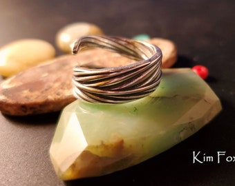 Feather Ring in Sterling Silver designed by Kim Fox