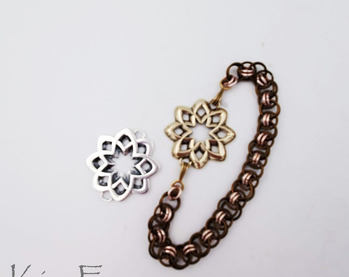 KF447 Desert Flower Element suitable for clasp, connector, earring, pendant designed by Kim Fox