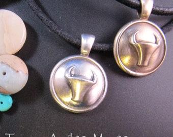 KFP173 Taurus sterling silver pendant