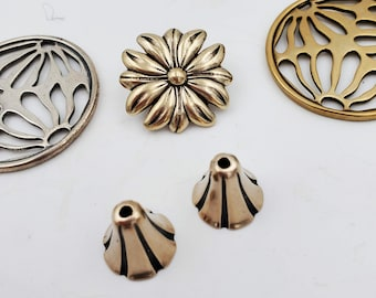 KF236RB RED BRONZE Small Bell Flower Cones  14mm by 10mm opening designed by Kim Fox