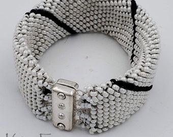 KF419 Beaded Rectangular 4 strand Magnetic Clasp designed by Kim Fox
