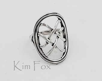 KFR424 Infinite Knot Ring in Sterling Silver Designed by Kim Fox