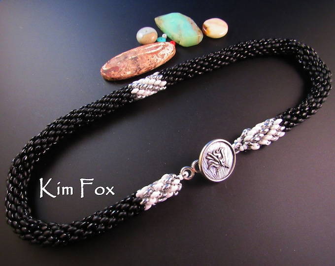 Super Duo Spiral Necklace
