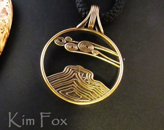 KFB407 Bell Rock Pendant in Bronze designed by Kim Fox