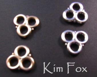 KF382 Two to One Loops in Golden Bronze or Sterling Silver - designed by Kim Fox - Heavy Duty