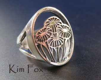 Gift of Love Ring - bouquet - in silver designed by Kim Fox