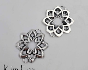 Desert Flower Element suitable for clasp, connector, earring, pendant designed by Kim Fox