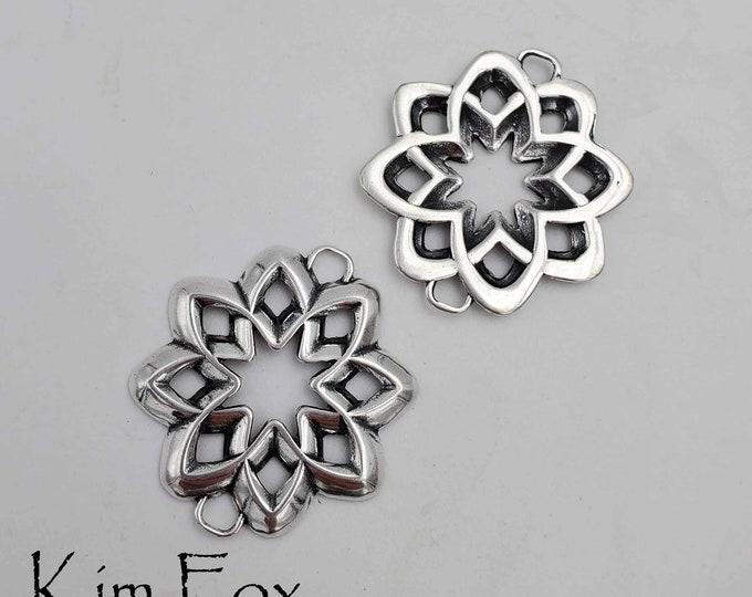 Desert Flower Element suitable for clasp, connector, earring, pendant designed by Kim Fox
