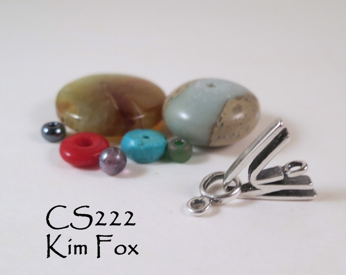 C 222 Double V Clasp in SILVER  by Kim Fox