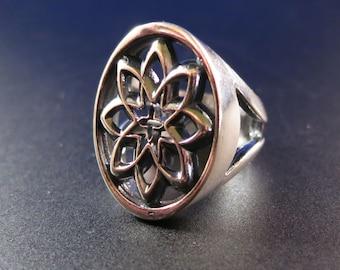 Desert Flower Ring in Sterling Silver designed by Kim Fox