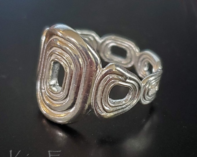 Halo Ring - Designed to be textured, tailored, and comfortable by Kim Fox in Sterling Silver