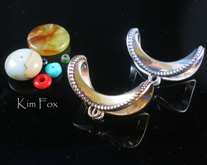 KF349  Over The Moon Adjustable Bail in silver and bronze designed by Kim Fox