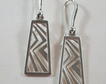 Higher Ground Asian Influenced Earrings in Silver