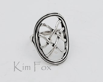 KFR424 Infinite Knot Ring in Sterling Silver Designed by Kim Fox