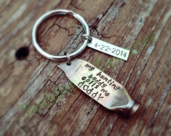 shell casing gift for Dad hero engraved daddy boyfriend engraved name Personalized recycled bullet keychain godfather brother Uncle