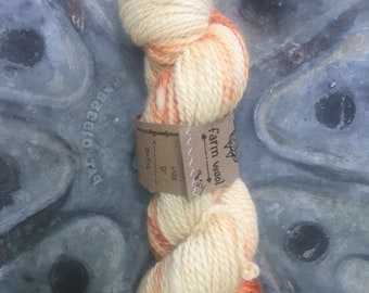 BFL worsted weight wool yarn hand dyed