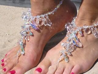 Happi Feet - barefoot sandals - barefoot beach wedding shoes - barefoot destination wedding shoes - The Chandeliers HF101
