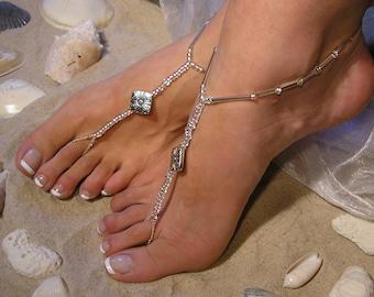 Happi Feet - beach wedding barefoot sandals - barefoot sandals - wedding shoes - pewter - The Gillian HF17