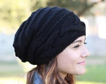 Slouchy look oversized slouch hat to wear! Black slouchy beanie women 8dabbeb6c1d5