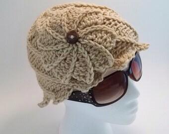 Braided Twirlagig Hat Set in 3 sizes, pdf crochet pattern, Instant Download.