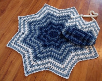 Granny Ripple Mommy & me Set, Instant Download crochet pattern