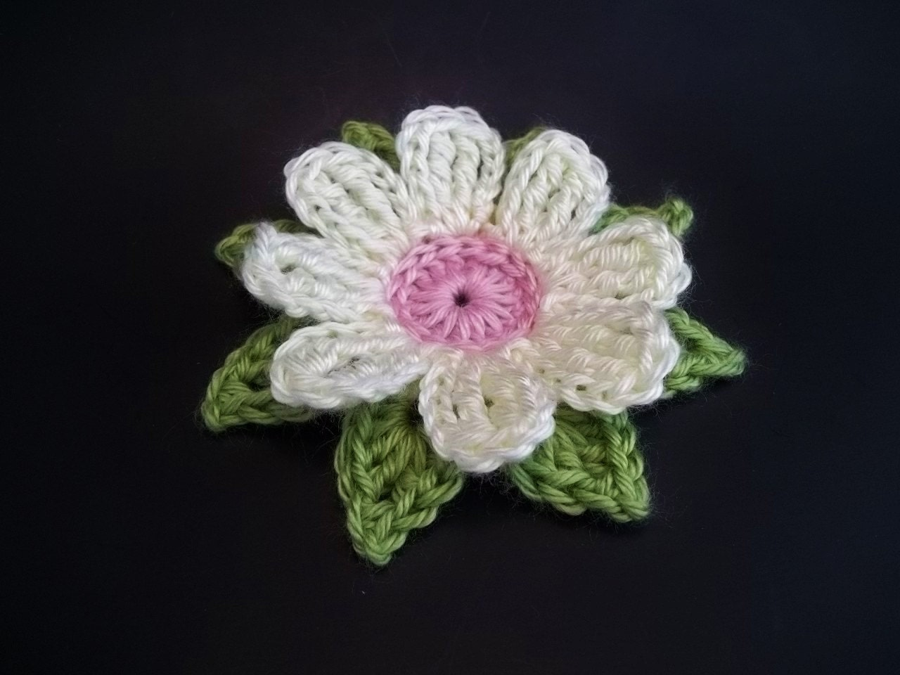 Gerbera Daisy Dukes Flower Crochet Pattern from TheHookHound on Etsy ...