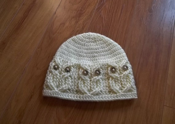 Crochet Pattern Its A Hoot Owl Hat Adult Etsy