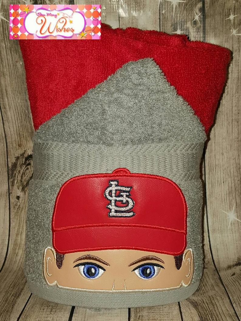 Baseball Player Hooded Towel **free personalization**