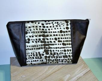 Beauty Bag/Make up Bag/Project Bag/Hair Bag/ Toiletry Bag/ Abstract Print
