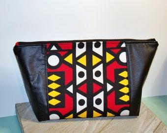 Beauty Bag/ Make up Bag/ Project Bag/ Hair Bag/ Angola Samakaka Print