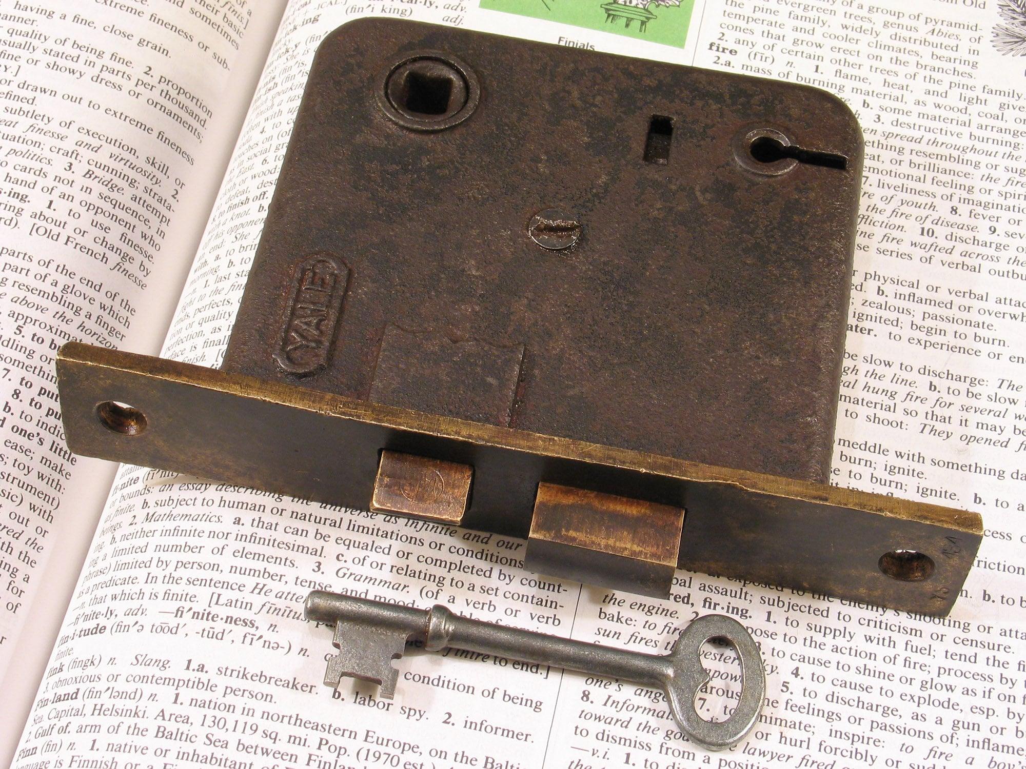 Antique Sargent Mortise Lock Skeleton Key #4 Antique Sargent  Door Key  4