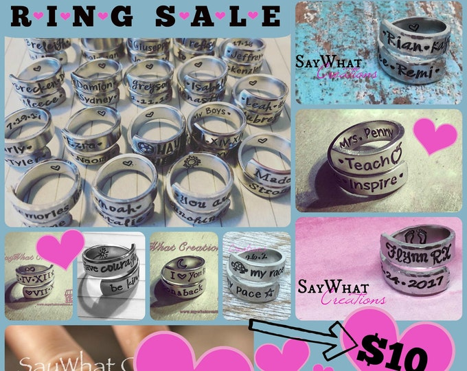 RING SALE personalized wrap ring