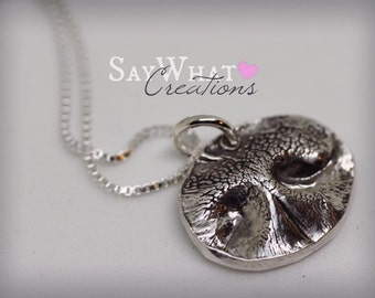 Dog Nose Print Impression Necklace - from your ACTUAL dog's nose