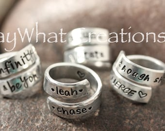 BEST SELLER Personalized Wrap Ring Hand Stamped