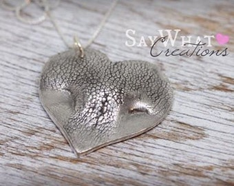 Your Dog's Actual Nose as a Heart Shaped Necklace