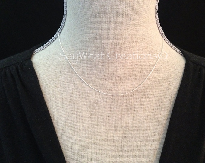 "Sterling Silver Box Chain 16"" Necklace 1.2mm Italian Sterling Silver Chain"