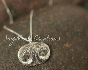 Your Dog's Nose Print made into Solid Silver Necklace
