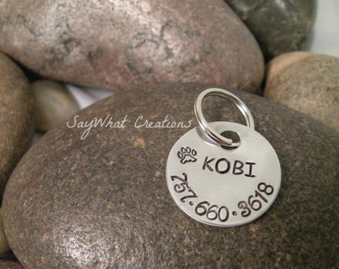 Custom Hand Stamped Pet ID Tag for your Dog or Cat