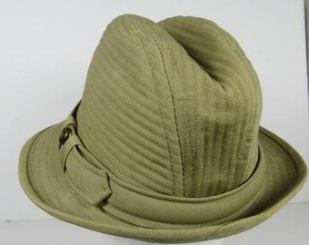 Medium Country Gentleman Mens Durrell Fedora Trilby Hat Beige