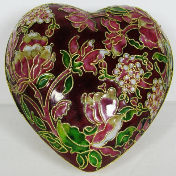Beautiful Cloisonne Heart Just in time for Valentine