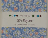 Moda 30 39 sPlaytime Charm Pack- (42) 5 inch squares by Chloe 39 s Closet 32780PP OOP Hard to Find