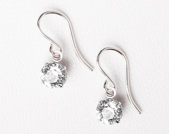 Beautiful Earrings - Rhea Earring - Silver  Earrings - Bridal Earrings - Beautiful Earrings - Crystal Drop Earrings - Beautiful Earrings