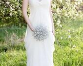 Mirrored Bridal Bouquet - Silver Wedding Bouquet - Fabulous Brooch Bouquet Alternative