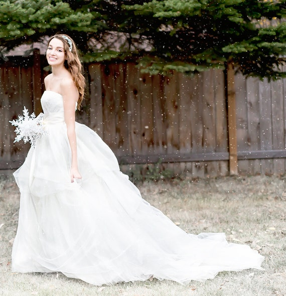 Crystal Snowflake Bridal Bouquet Christmas Or Winter Wedding Etsy