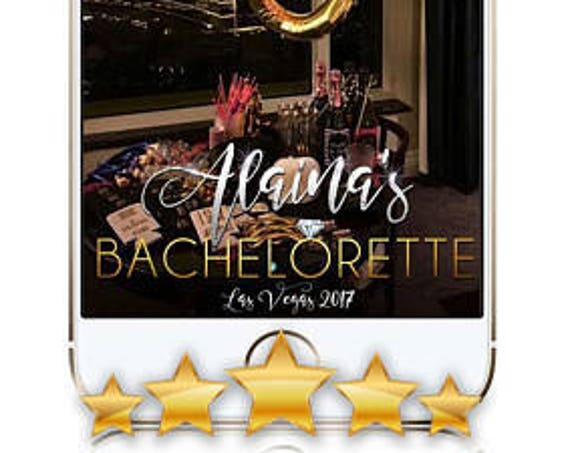 Gleaming Bachelorette Snap Chat Filter - Customize!