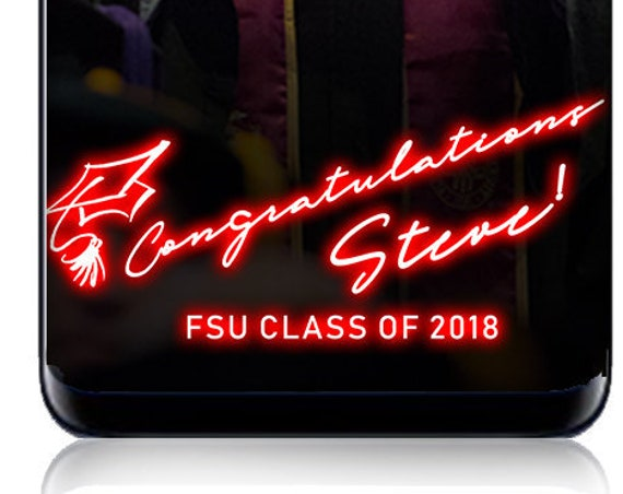 Neon Congratulations Graduate Class of 2018 Snap Chat Filter - Custom Geofilter!