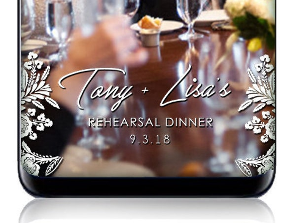 Lace Rehearsal Dinner Snap Chat Filter - Custom Wedding SnapChat Geofilter