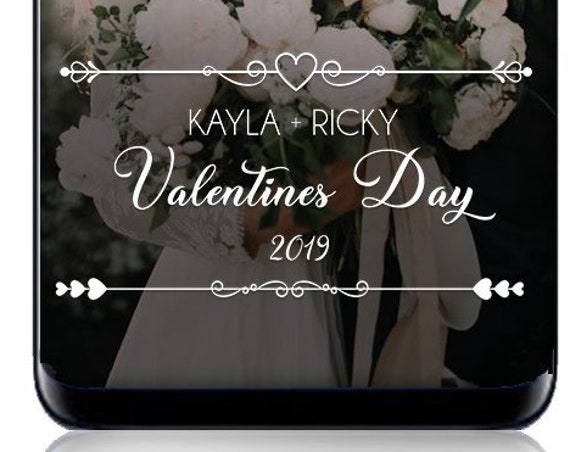 Classic White Text Valentine's Day SnapChat Filter - Personalized Geofilter!